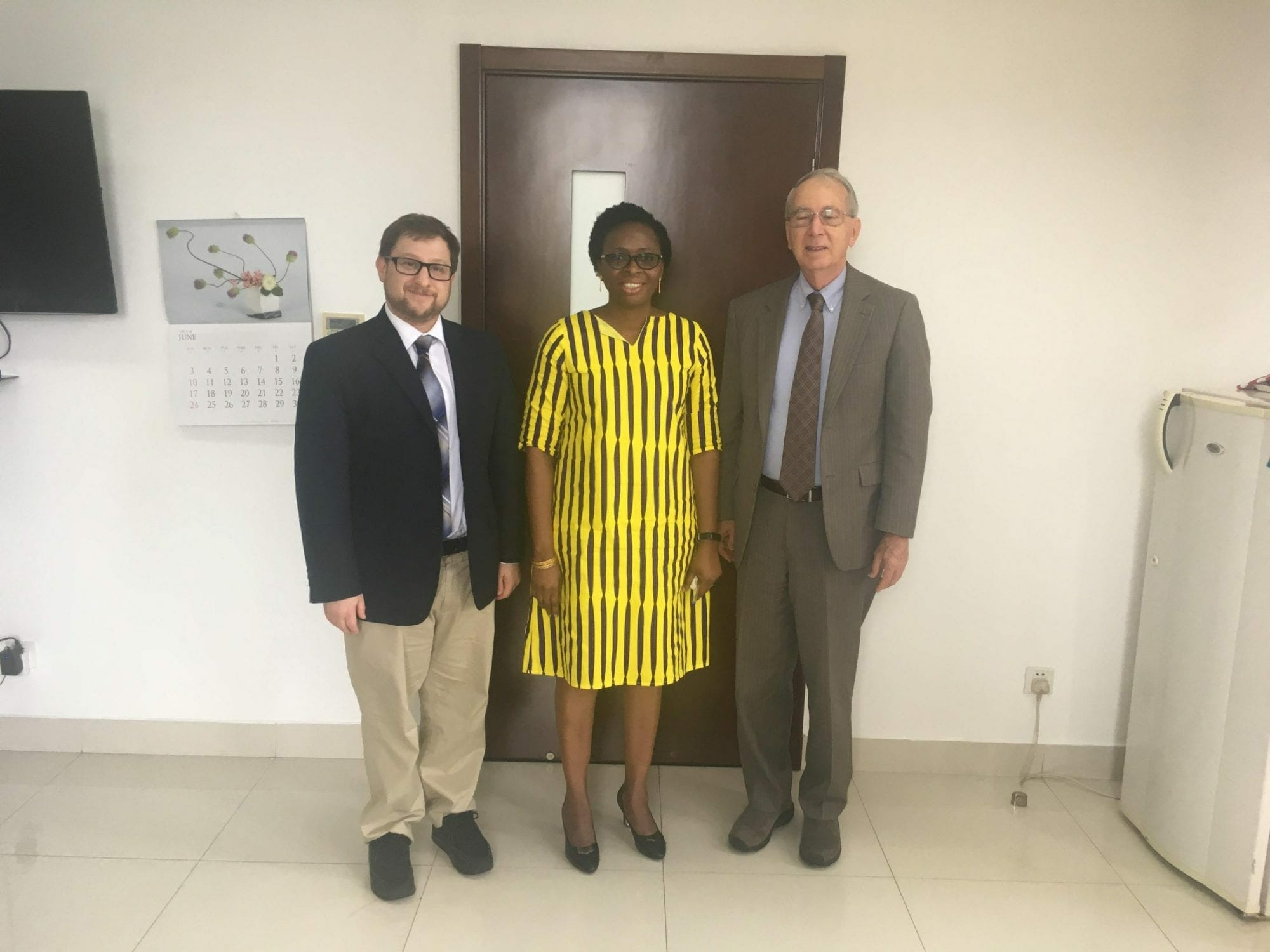Shinn and Eisenman with Genevieve Apaloo Director for Asian Affairs Ghanaian Ministry of Foreign Affairs